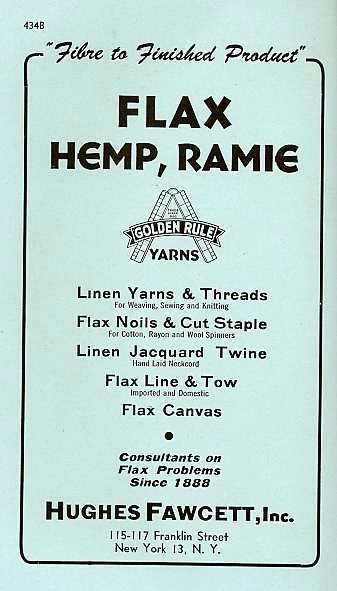 1945: HEMP ROPE ADS & MANUFACTURING INFO